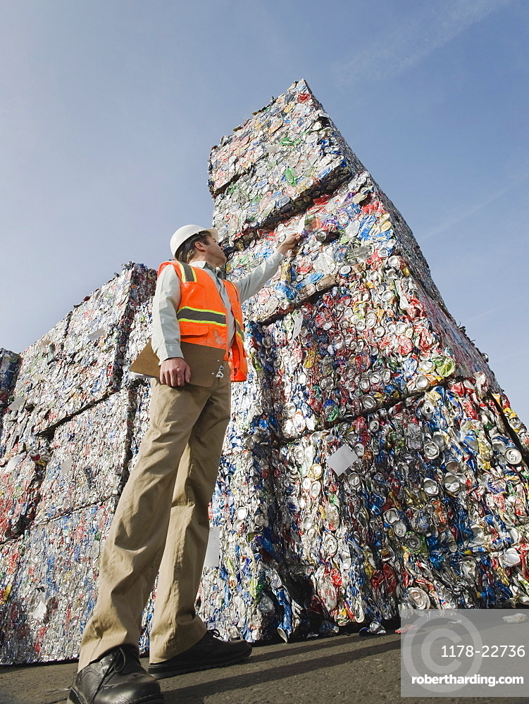 Manager at recycling plant