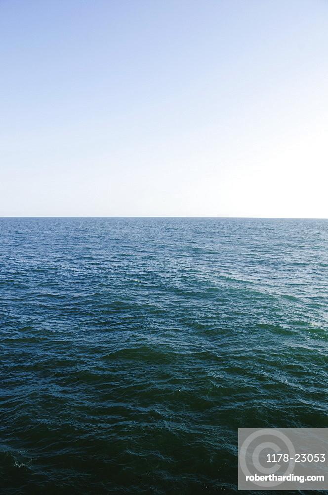 horizon over sea, USA, North Carolina