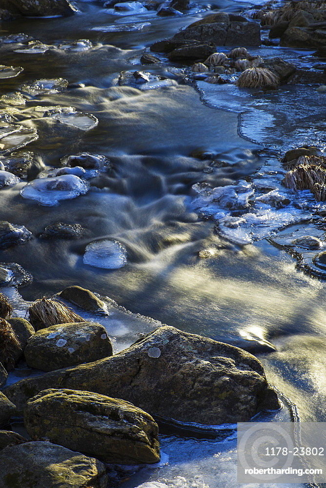Stream in winter, Kent Falls State Park, Kent, CT