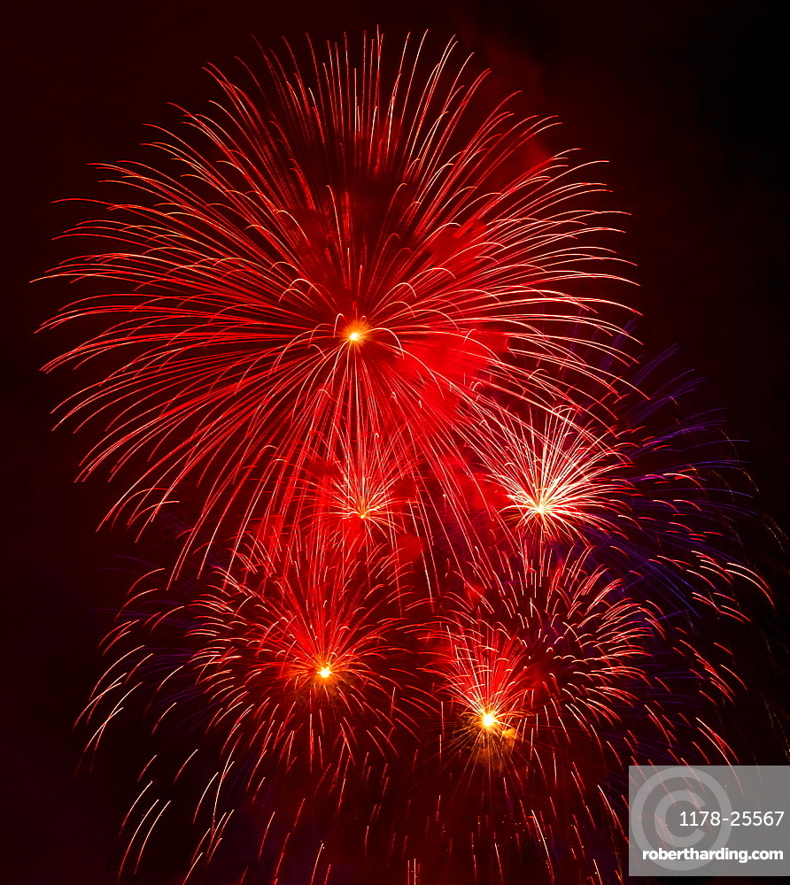 Independence Day celebration with fireworks