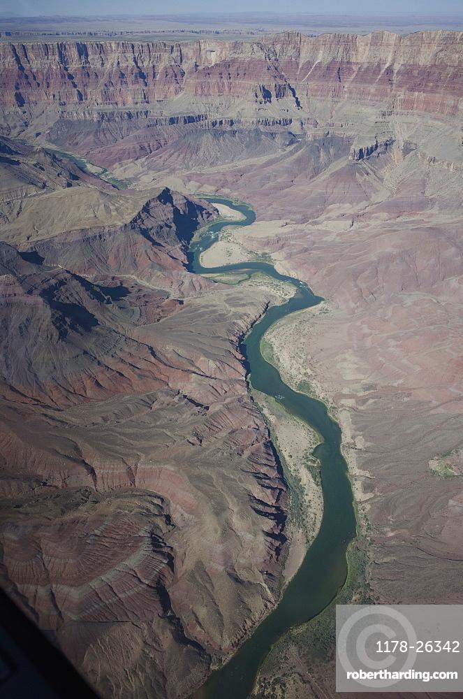 Colorado River through the Grand Canyon, Grand Canyon, Arizona, USA