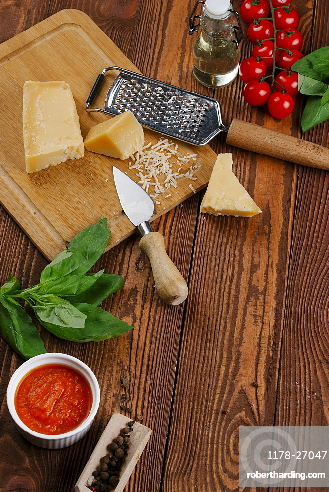 Ingredients for Margherita pizza