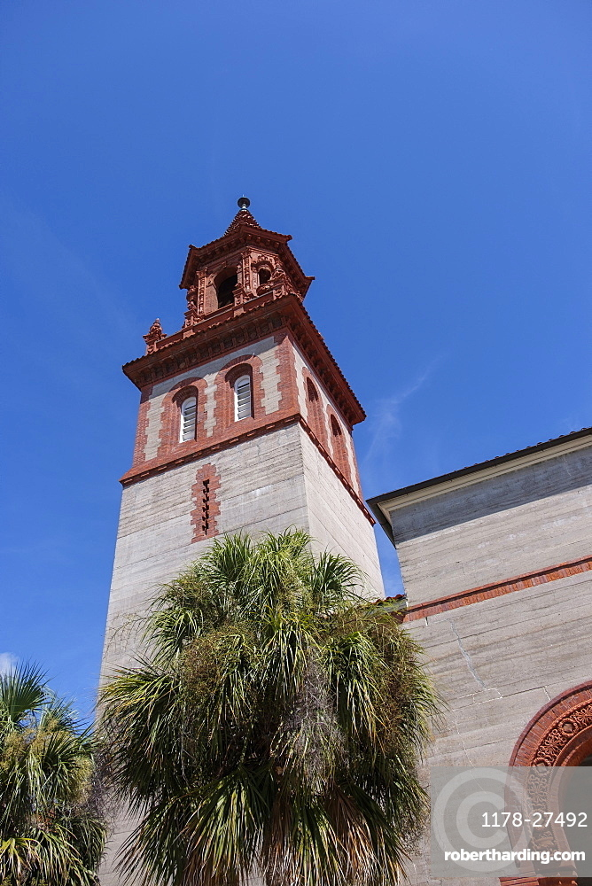 Bell tower at Flagler College in St. Augustine, USA