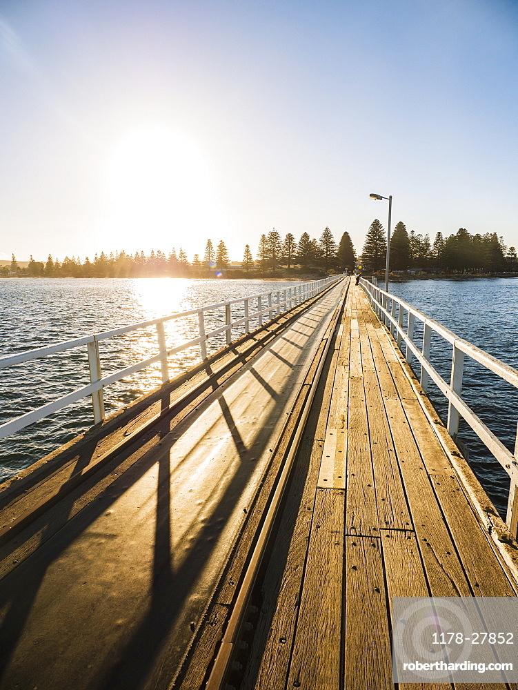 Pier at sunset on Victor Harbor in South Australia, Australia