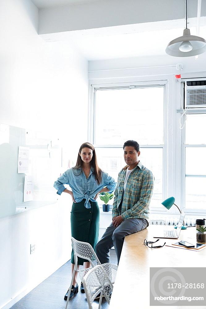 Coworkers in modern office