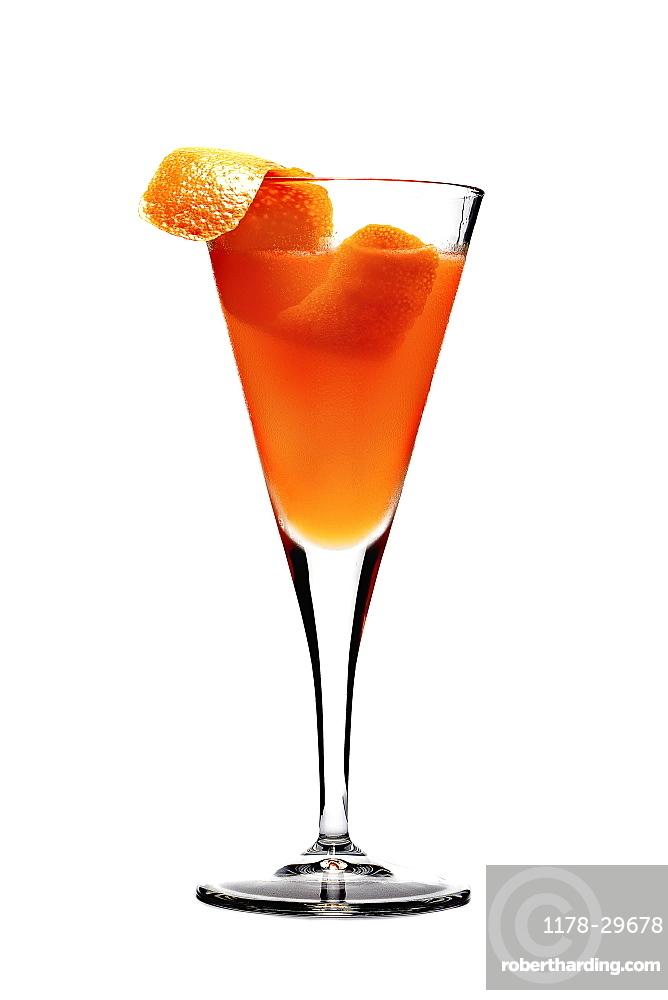 Elegant cocktailon white