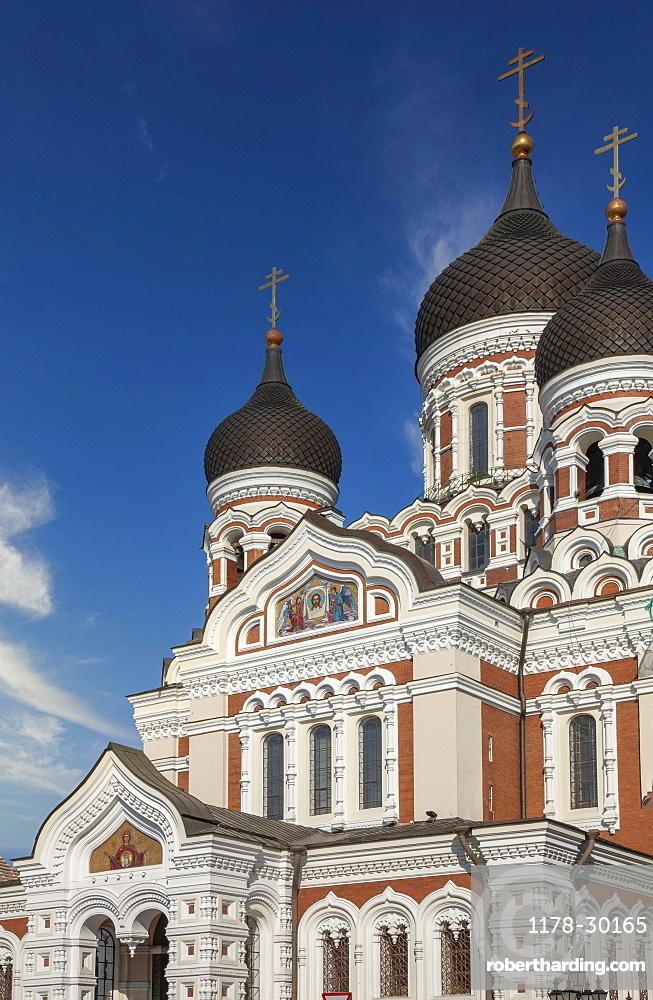 Europe, Baltic States, Estonia, Tallinn, Exterior of St Alexander Nevski Cathedral