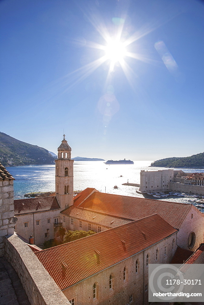 Croatia, Dubrovnik, Medieval church on waterfront