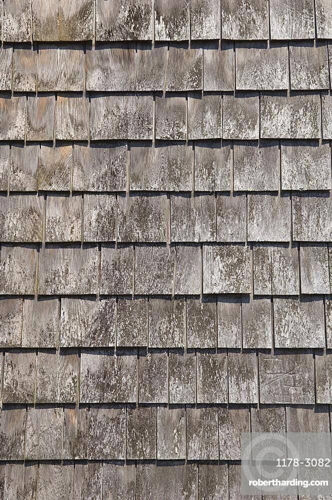 Closeup of wood shingles