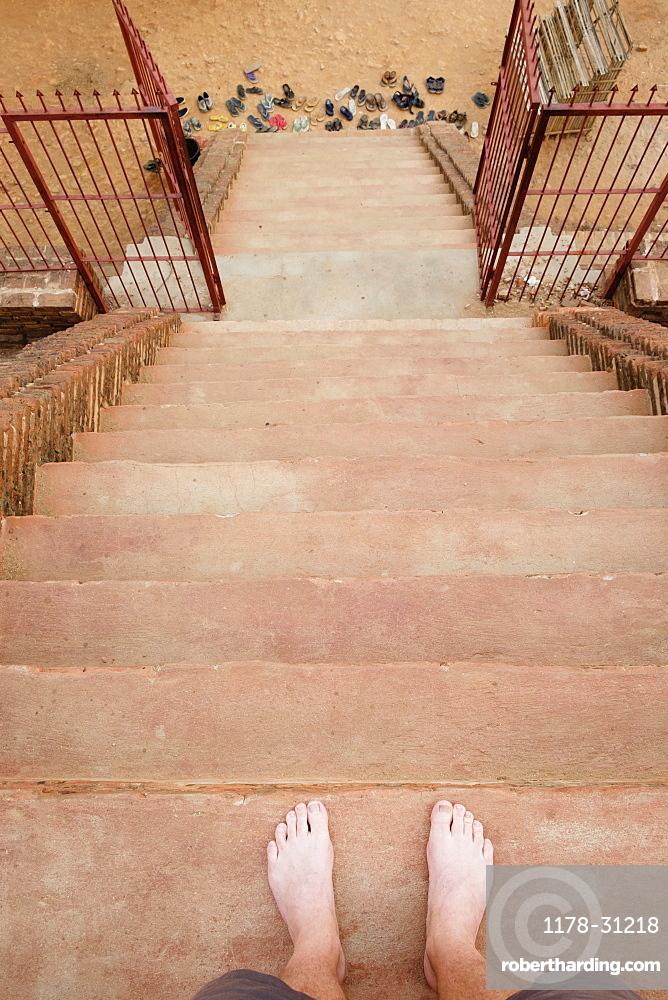 Stairway, Bagan Archaeological Zone, Buddhist temples, Mandalay, Myanmar