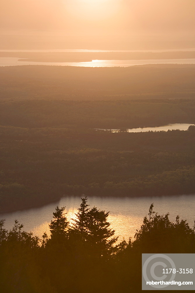 Sunset from Cadillac Mountain in Maine
