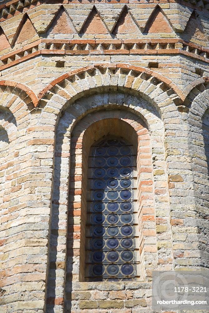 Window of Byzantine church of Santa Fosca Torcello Italy