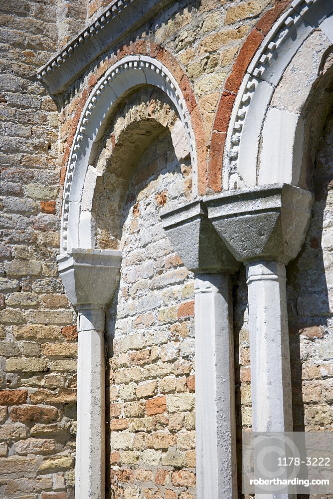 Byzantine arches Church of Santa Fosca Torcello Italy