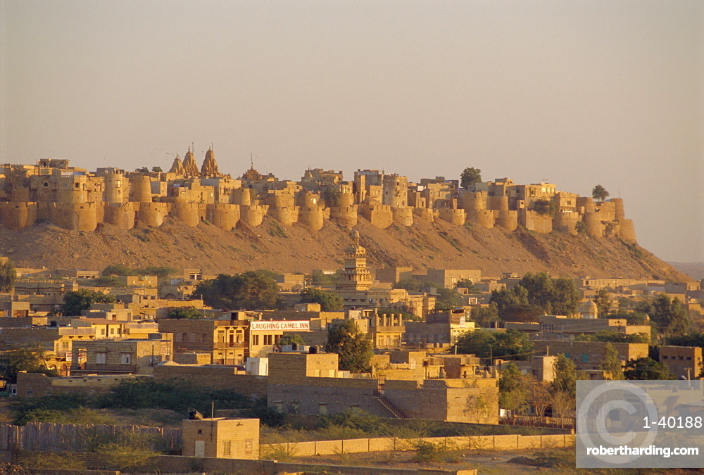 View of the fortified old city, Jaisalmer, Rajasthan State, India