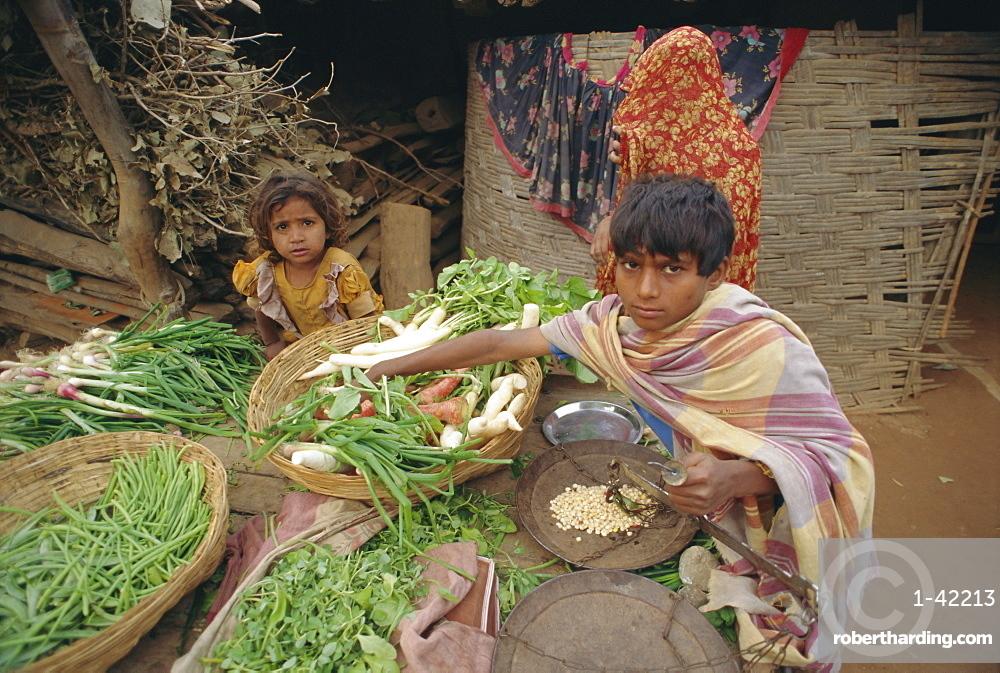 Market, Dhariyawad, Rajasthan, India