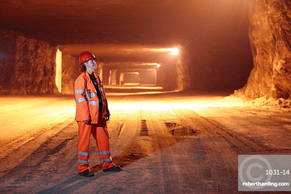 Mining grit salt is very different to the traditional image of cramped dark areas and men with pickaxes! The nature of grit salt mines mean they resemble vast caverns, up to 20 metres wide.  .
