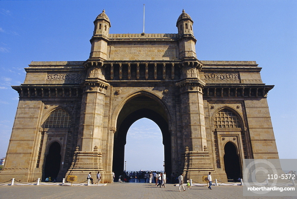 The Gateway to India, built to commemorate the visit of George V in 1911, Mumbai, previously called Bombay,  Maharashtra State, India