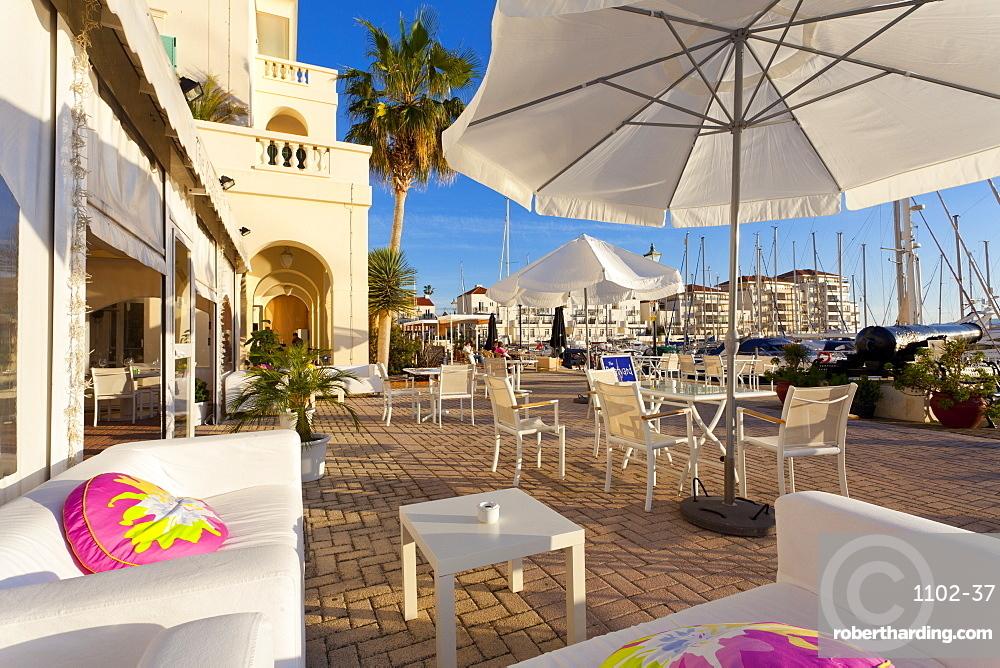 Bar at Queensway Quay Marina, Gibraltar, Mediterranean, Europe