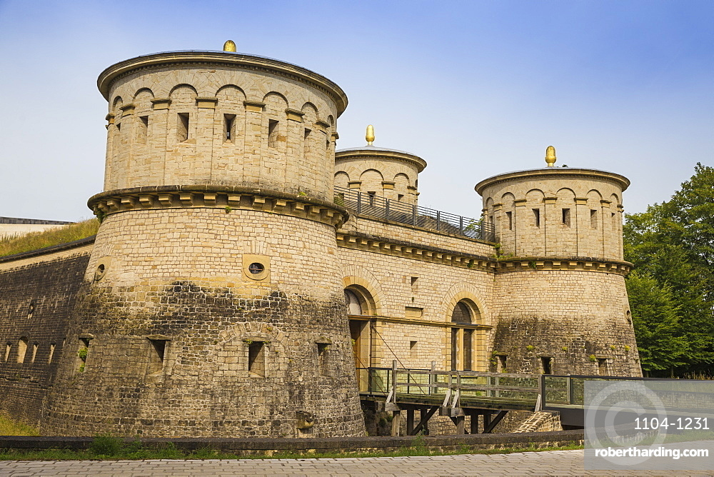 Historic site of Fort Thungen, Kirchberg, Luxembourg City, Luxembourg, Europe