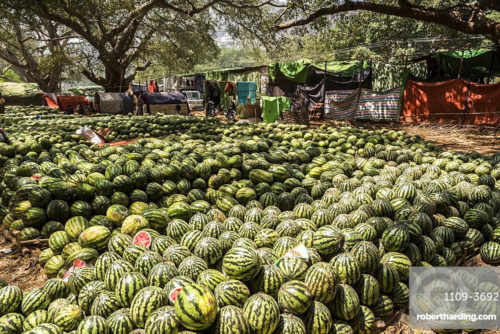 Watermelons, Pindaya, Shan State, Myanmar (Burma), Asia