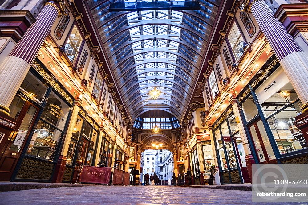Leadenhall Market, City of London, London, England, United Kingdom, Europe