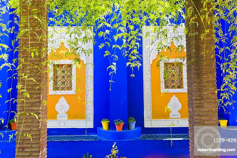 Majorelle Gardens (Gardens of Yves Saint-Laurent), Marrakech, Morocco, North Africa, Africa