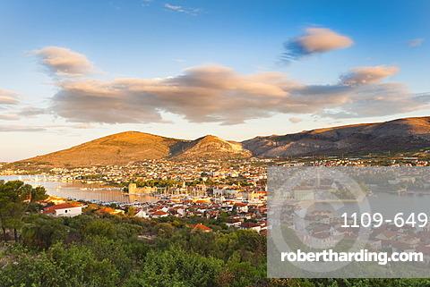 View over Trogir, UNESCO World Heritage Site, Dalmatian Coast, Croatia, Europe
