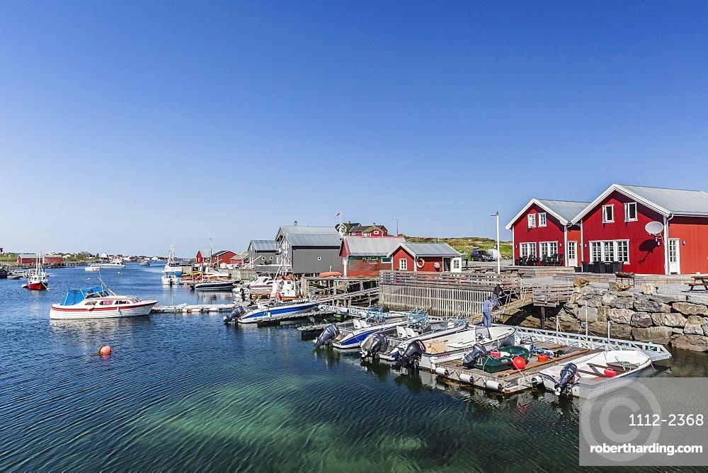The small Norwegian fishing village of Nes, UNESCO World Heritage Site, Vega Island, Norway, Scandinavia, Europe
