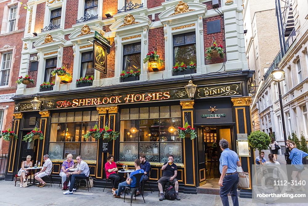 The Sherlock Holmes Pub in central London, England, United Kingdom, Europe