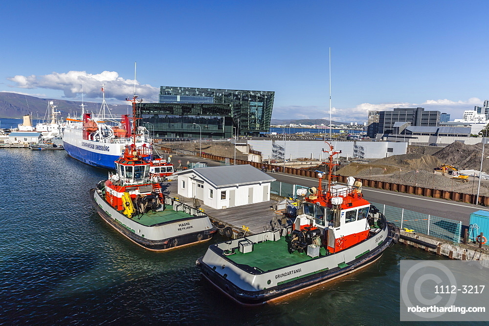 A view of the harbour in Reykjavik, Iceland, Polar Regions