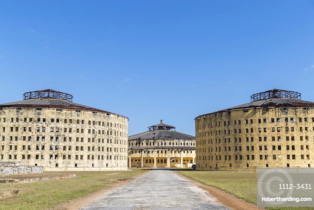Exterior view of the Presidio Modelo (Model Prison), built in the late 1920s on Isla de la Juventud, Cuba, West Indies, Central America