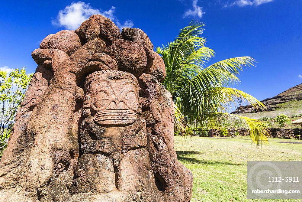 Art display from the Musee Communal de Ua Huka, Ua Huka Island, Marquesas, French Polynesia, South Pacific, Pacific
