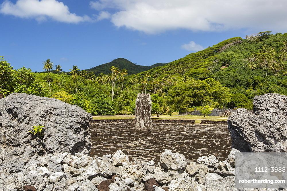 Taputapuatea marae, UNESCO World Heritage Site on Raiatea, Society Islands, French Polynesia, South Pacific, Pacific