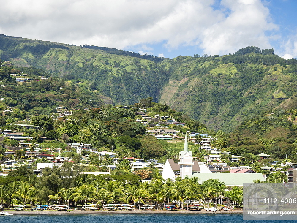A view of Papeete, on the northwest coast of Tahiti, Society Islands, French Polynesia, South Pacific, Pacific