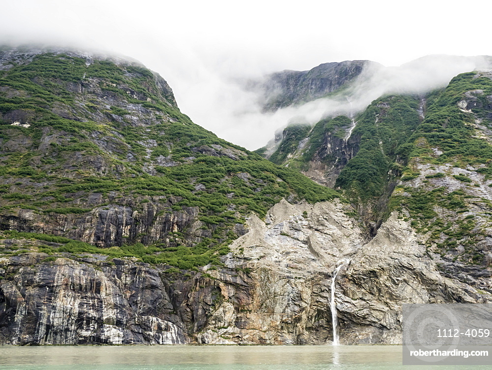 Ice melt waterfall in Tracy Arm-Fords Terror Wilderness Area, Southeast Alaska, United States of America
