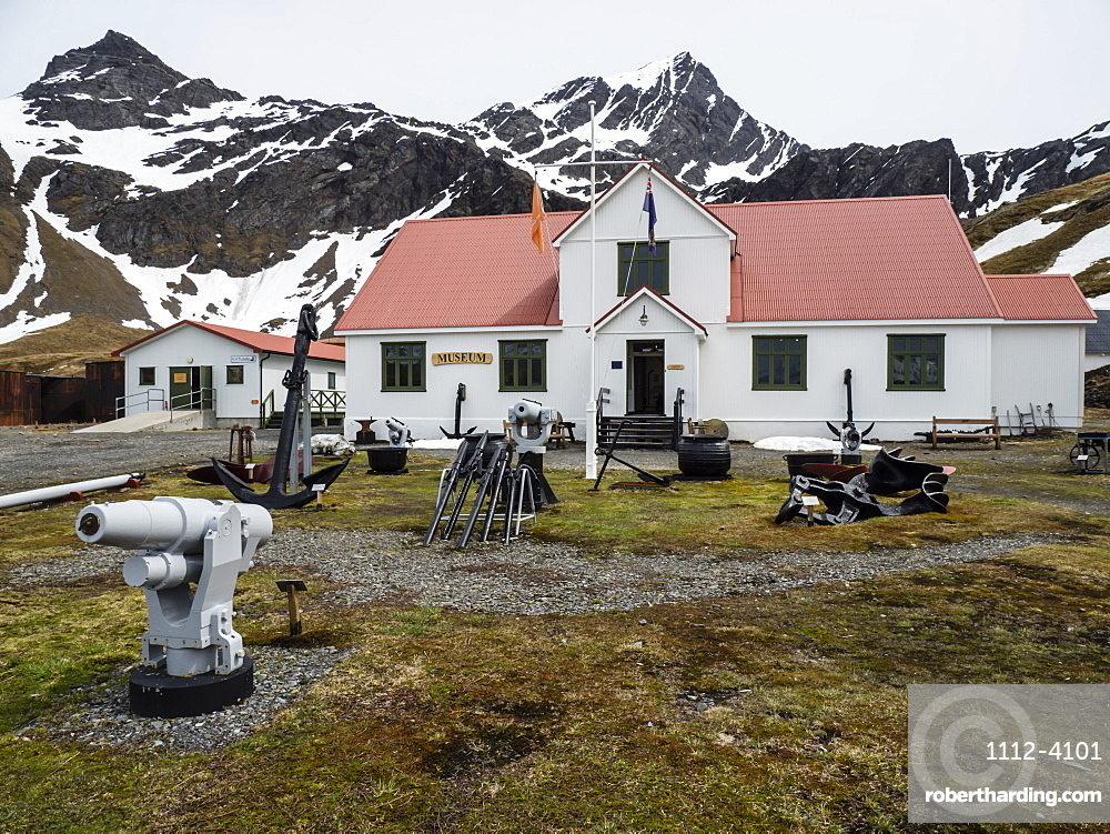 The natural history museum at Grytviken, now cleaned and refurbished for tourism on South Georgia Island, Atlantic Ocean
