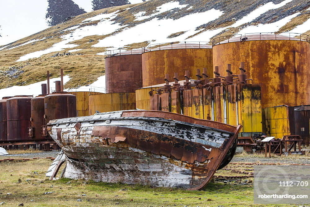 The abandoned Grytviken Whaling Station, South Georgia, South Atlantic Ocean, Polar Regions