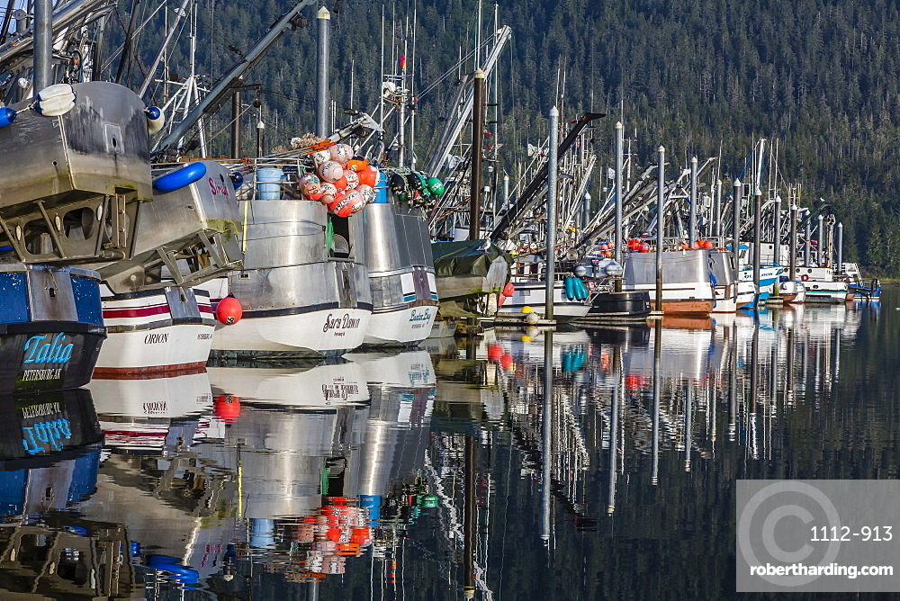 The Norwegian fishing town of Petersburg, Southeast Alaska, United States of America, North America