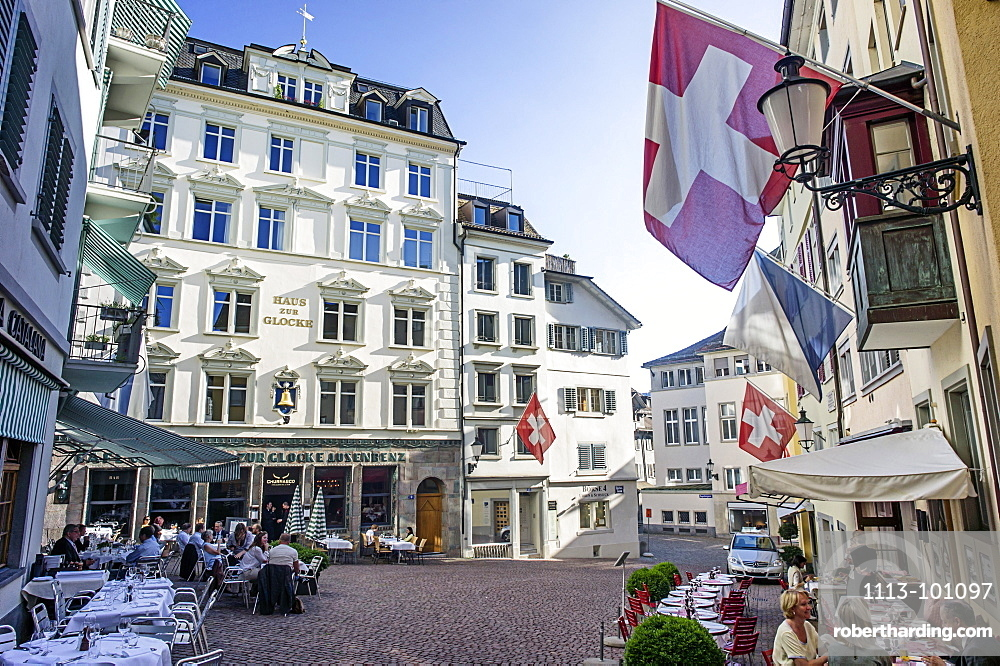 Haus zur Glocke, Steak House in the old town, Zurich, Switzerland