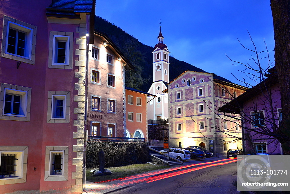 Village of Steinhaus in the Ahrn valley, South Tyrol, Italy