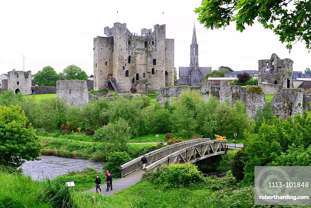 Trim castle, Trim in the Boyne valley, East coast, north of Dublin, County Meath, Ireland