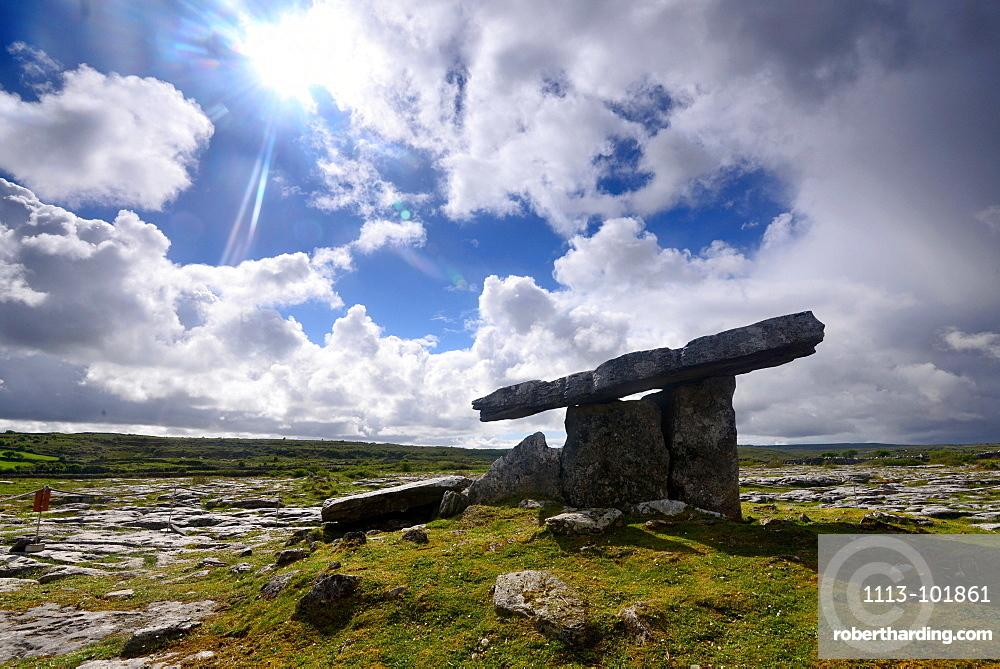 Poulnabrone Dolmen in the Burren, Clare, West coast, Ireland