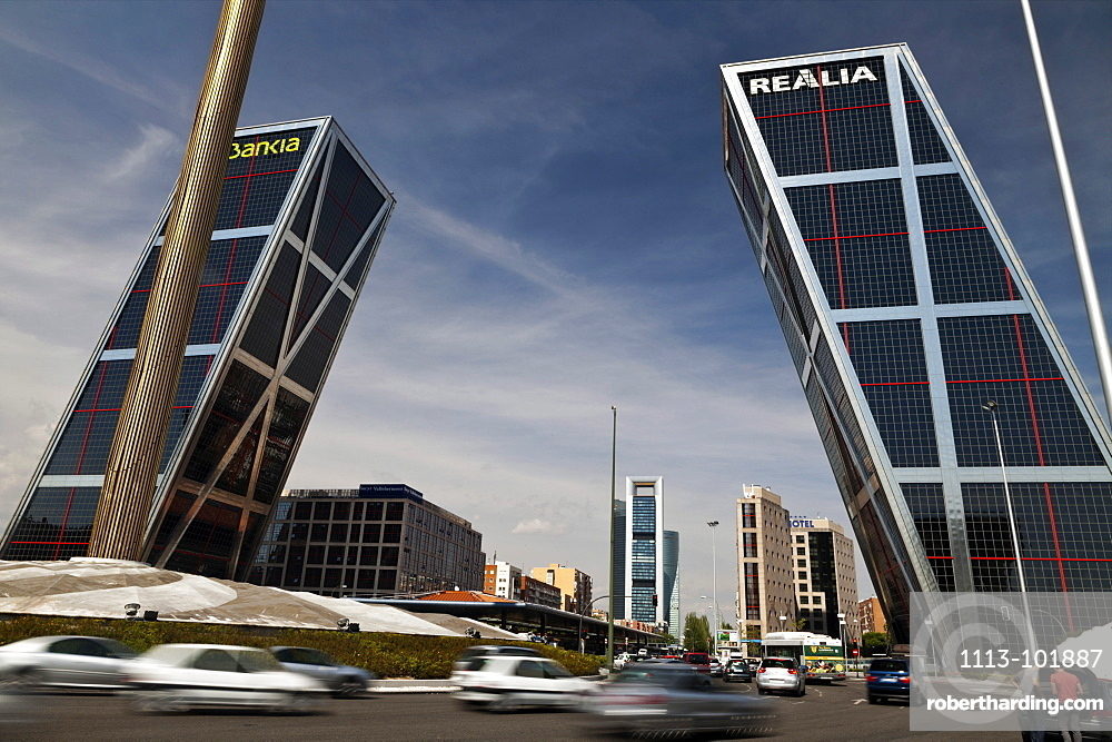The Gate of Europe Towers, Puerta de Europa also known as KIO Towers, Kuwait Investment Office, Madrid, Spain, Europe