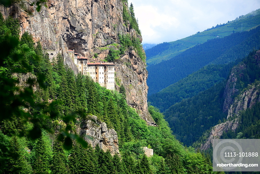 Sumela abbey near Trabzon, Black Sea, East Turkey, Turkey