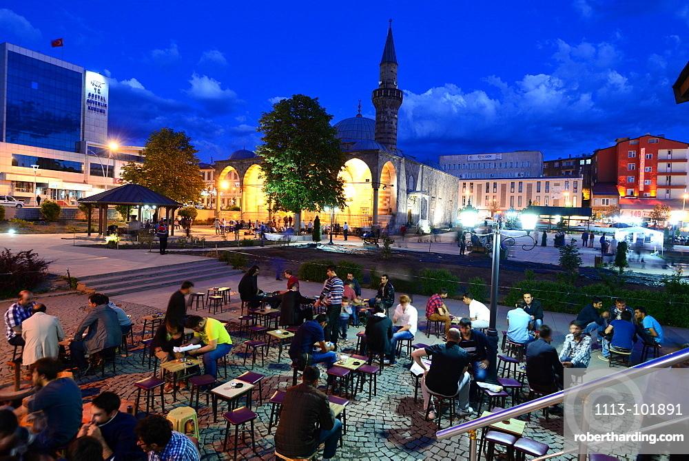 In Erzurum at Mustafa Pasa Mosque in the evening, Erzurum, east Anatolia, East Turkey, Turkey