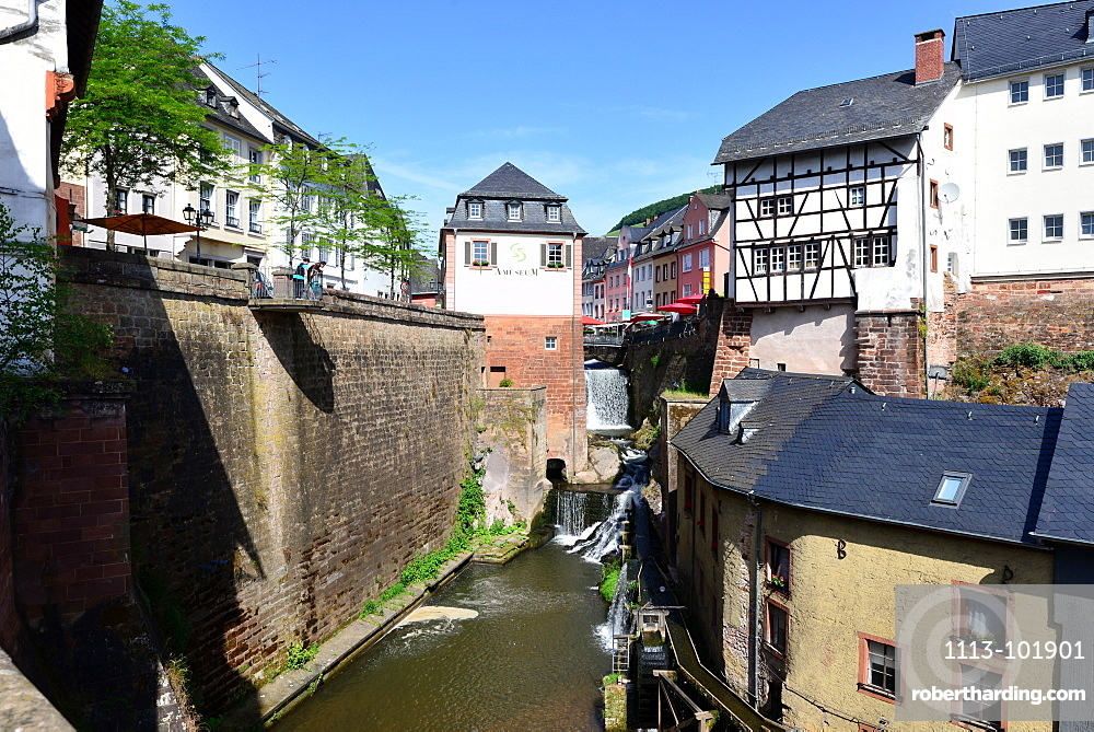 Saarburg on the river Saar, Rhineland-Palatinate, Germany