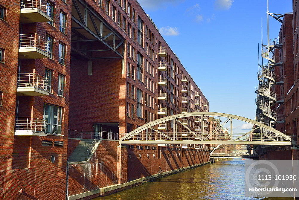 Modern buildings in the Warehouse district, Kehrwiederspitze, Warehouse district, Speicherstadt, Hamburg, Germany