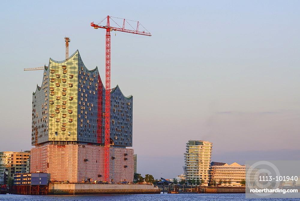 Elbphilharmonie and Marco Polo Tower, Hafencity, Hamburg, Germany