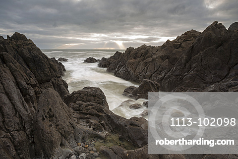 Coastal landscape near Swansea, Wales, United Kingdom