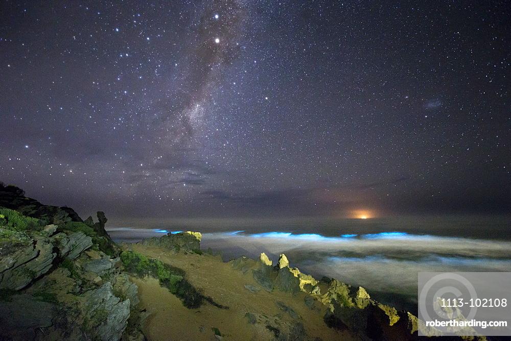 Glowing seas, Brenton-on-Sea, Indian Ocean, Knysna, Western cape, South Africa